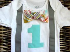 Boys First Birthday Outfit  Baby Boy Clothes  Grey by SewLovedBaby, $22.99