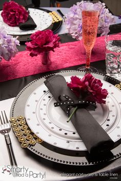 Elegant Carina Valentine's Day Table Setting |  SmartyHadAParty.com