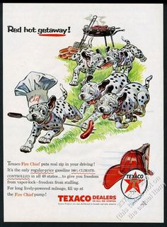 This is an original 1956 print ad for Texaco!    eBay!
