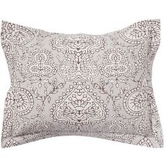 Pottery Barn Adelaide Organic Sham ($7.99) ❤ liked on Polyvore featuring home, bed & bath, bedding, bed accessories, pottery barn shams, pottery barn bed linens, pottery barn, pottery barn bedding and organic cotton bedding