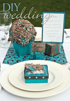 cute centerpiece idea #turquoise #wedding #inspiration
