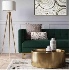 Home Interior Kitchen Cologne Tufted Track Arm Sofa Emerald Green - Project 62 Living Room Green, Living Room Sofa, Home Living Room, Barn Living, Green Living Room Furniture, Living Room Decor Gold, Bedroom With Sofa, Apartment Living, Target Living Room