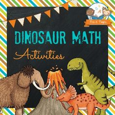 Dinosaur theme unit for pre-k, preschool, and kindergarten. Lesson ideas, activities and printables for learning about dinosaurs including literacy and math.