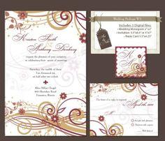 Digital Wedding Invitation Package DIY Wedding by RitejStudio, $29.99
