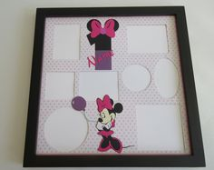 Disney Themed Birthday Party Picture Frame Collage Photo Frames Minnie Mouse First Second Disney World Disneyland Multi Photo Decor Gift Collage Photo, Collage Picture Frames, Picture Frames For Parties, Disney Collage, Multi Photo, Disney Inspired, Birthday Party Themes, Disneyland, Framed Art