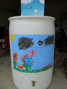 DESIGN AND PAINT A RAIN BARREL