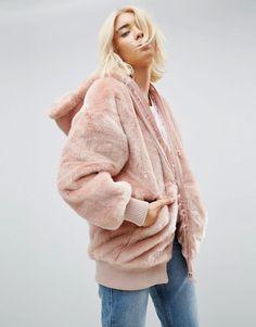 ASOS Oversized Hooded Jacket in Faux Fur #womensfashion #style #love #shopping #winter #fallfashion #ad