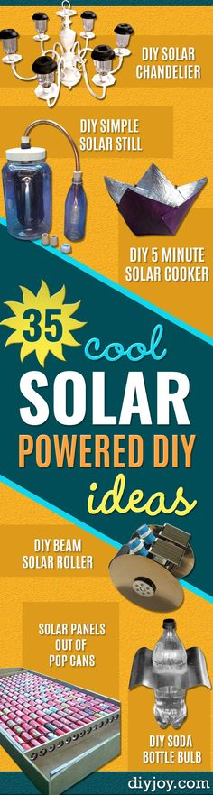 DIY Solar Powered Projects - Easy Solar Crafts and DYI Ideas for Making Solar Power Things You Can Use To Save Energy - Step by Step Tutorials for Making Things Without Batteries - DIY Projects and Cr
