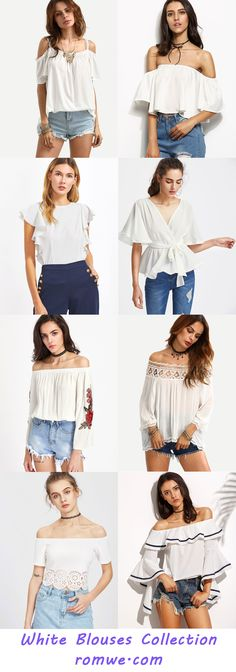 Casual & Chic White Blouses  with great price and soft material - romwe.com