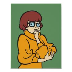 Cartoon Dog, Cartoon Characters, Female Cartoon, Cartoon People, Scooby Doo Images, Scooby Doo Mystery Incorporated, Design Your Own Poster, Velma Dinkley, Personalized Wall Art