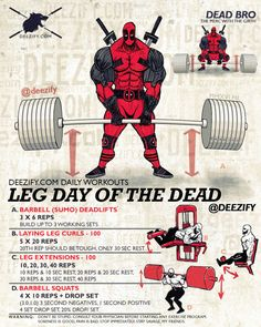 Leg Day of The Dead with deadpool #legday #deadpool #fitness
