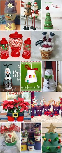 20 DIY Clay Pot Christmas Decorations That Add Charm To Your Holiday Décor via @vanessacrafting