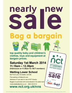Parents! Grab yourself a bargain... All for a good cause.