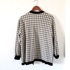 Checked Cardigan Trendy black and white checkered cardigan with silver buttons, size M, no tag, some pilling, condition 8/10 Topshop Sweaters Cardigans