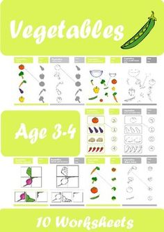 Looking for some extra activities for your Vegetables classes? Use these worksheets to have fun and interesting time with your students. Suitable for young learners. Both in colored and black and white version. Kindergarten Worksheets, Classroom Activities, Pool Landscaping, Age 3, Teaching Resources, Good Times, Have Fun, Preschool, Students