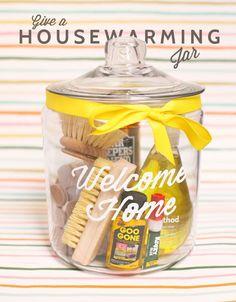 Welcome home housewarming jar diy