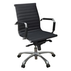 Solace Swivel Office Chair- leather
