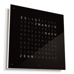 Clock, Wall, Biegert & Funk, QLOCKTWO black ice tea, 885 €