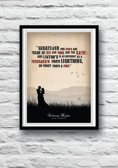 Wuthering Heights book Emily Bronte Movie Poster by Redpostbox, £8.00