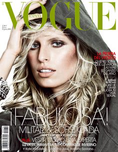Karolina Kurkova by Tom Munro Vogue España January 2011