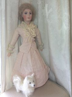 RARE Olympia Jumeau Antique Bisque French Fashion Lady Doll Artist Repro 20 5"