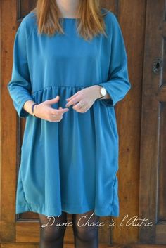 Robe Cassiopee iam patterns Babydoll Dress, Tunic Tops, Dresses With Sleeves, Doll Dresses, Long Sleeve, Women, Fashion, Make A Dress, Other