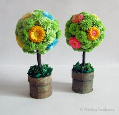 quilled floral topiary arrangements