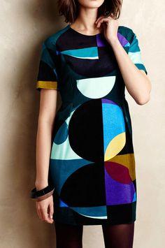 Marimekko Kipale Circle Shift Dress Velvety size 40 #Marimekko #Shift #Cocktail