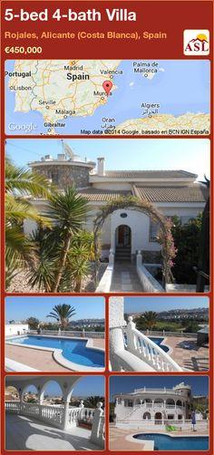 5-bed 4-bath Villa in Rojales, Alicante (Costa Blanca), Spain ►€450,000 #PropertyForSaleInSpain