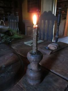 Early candle holder.