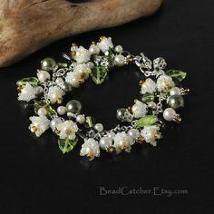 Lily of the valley spring bracelet. $56.00, via Etsy.