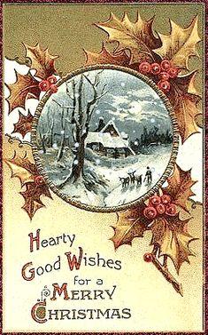 palle di neve antiche | Mi sono divertita a spruzzare di neve queste bellissime cartoline ...