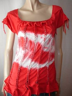 color: red and white    size: med/large (6-12)