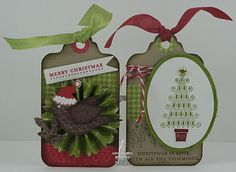 Cat's Ink.Corporated: Just Add Ink #92 - Just Add A Tag or Bookmark- Christmas Tags