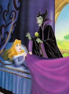 Long before the Maleficent movie, Disney released a hilarious book called My Side of the Story where Maleficent and Aurora both told their respective sides of the story with some great illustrations. Maleficent Movie, Sleeping Beauty Maleficent, Disney Sleeping Beauty, Malificent, Walt Disney, Disney Princess Aurora, Disney Villains, Disney Movies, Disney Characters