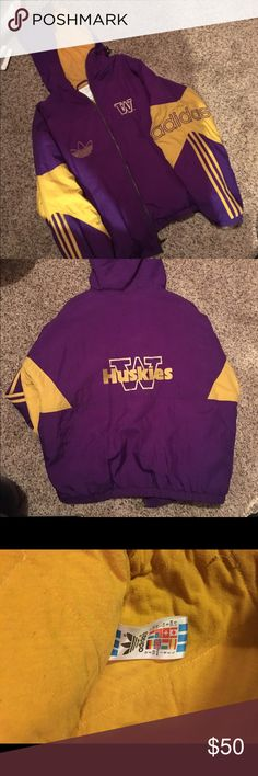 Rare vintage adidas UW jacket! For all you husky lovers this jacket is for you! Perfect condition!! Adidas Jackets & Coats Windbreakers