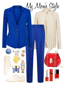 """""""My Mom's Style"""" by giovanina-001 ❤ liked on Polyvore featuring Theory, Diane Von Furstenberg, St. John, Guidi, Nina Ricci, Chanel, Bourjois, Jaeger-LeCoultre, Estée Lauder and Saks Fifth Avenue"""