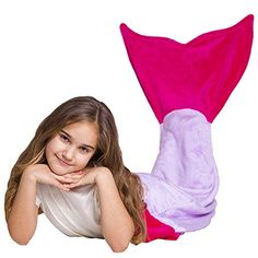 Loved Blanket Fleece Mermaid Tail Blanket for Kids Girls Teens  Excellent Idea for a Gift Purple  Pink