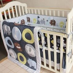 Open-Minded New 7 Pcs Lion Baby Bedding Set Baby Cot Crib Bedding Set Cartoon Animal World Tree Baby Crib Set Quilt Bumper Sheet Skirt Mother & Kids Bedding Sets