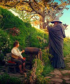 Bilbo & Gandalf