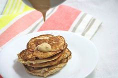 Coconut Flour Pancakes- Foodie Fiasco. Vegan, low carb, and only 150 calorie for the entire recipe! And other Breakfast Ideas!