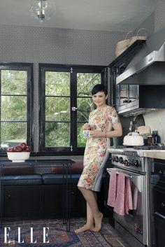 Ginnifer Goodwin's vintage-inspired kitchen