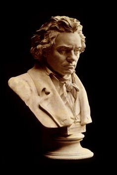 """Beethoven bust by Hagen. Schroeder (""""Peanuts"""" pianist) and I collect these!"""