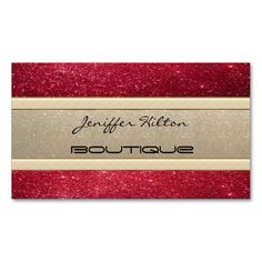 Elegant chic luxury contemporary gold/red glittery business card. I love this design! It is available for customization or ready to buy as is. All you need is to add your business info to this template then place the order. It will ship within 24 hours. Just click the image to make your own!