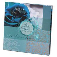 """Hochzeitseinladungen """"Blau"""" im festlichen Design bestellen"""