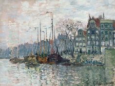 Claude Monet - View of the Prins Hendrikkade and the Kromme Waal in Amsterdam