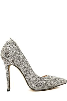 Stiletto Heel Sequined Pointed Toe Pumps