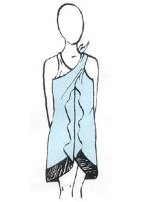 How to Tie a Sarong Into a Dress