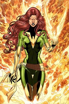 Jean Grey was one of the five original X-Men. An omega-level mutant telekinetic and telepath, Jean has gained near limitless powers as a recurrent host of the Phoenix Force. Marvel Comics, Marvel Vs, Heros Comics, Marvel Women, Marvel Girls, Comics Girls, Marvel Heroes, Captain Marvel, Jean Grey Phoenix