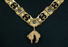Collane des Ordens vom Goldenen Vlies  2. - 3. Drittel 15. Jahrhundert  This is the only surviving neck chain from the early period of the Order of the Golden Fleece.